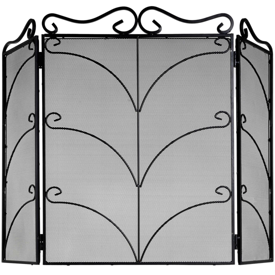 Picture of Heavy Large Black Ornate Fire Screen