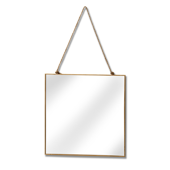 Picture of Gold Edged Square Hanging Wall Mirror