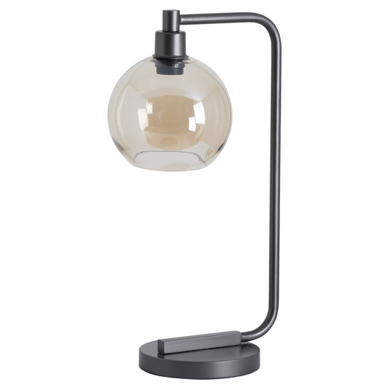 Picture of Industrial Metal Desk Lamp With Smoked Glass