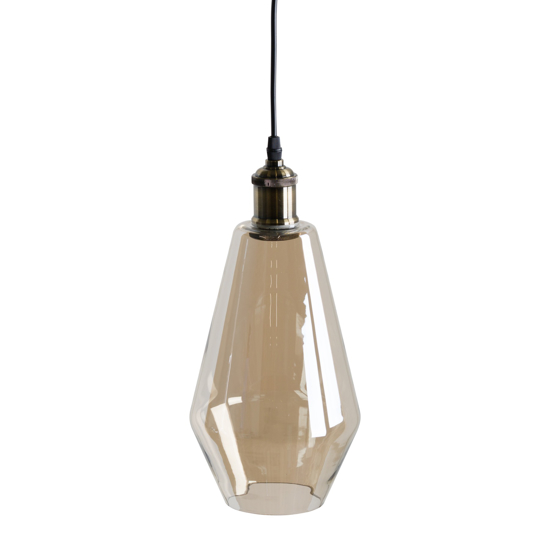 Picture of Smoked Glass Teardrop Pendant Light