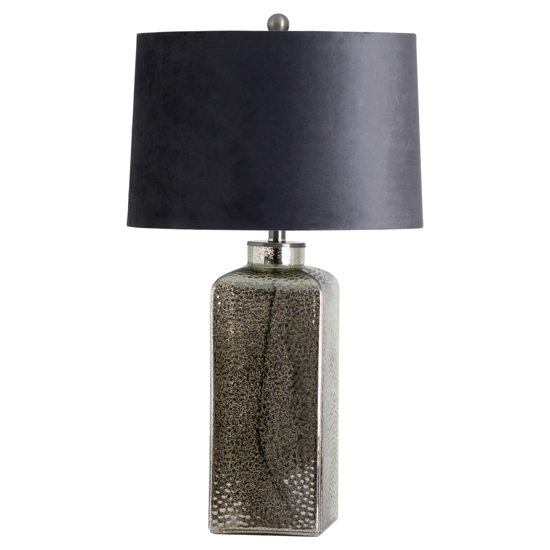 Picture of Stella Mirrored Glass Table Lamp With Velvet Shade