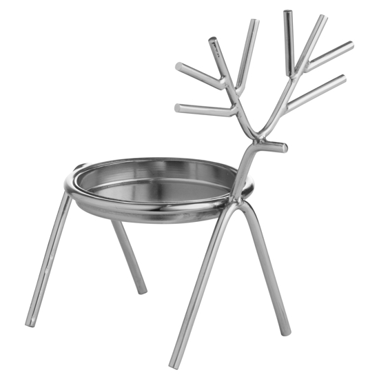 Picture of Silver Stick Reindeer Candle Holder