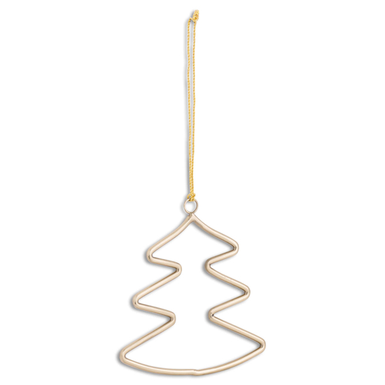 Picture of Brass Hanging Christmas Tree Silhouette Decoration