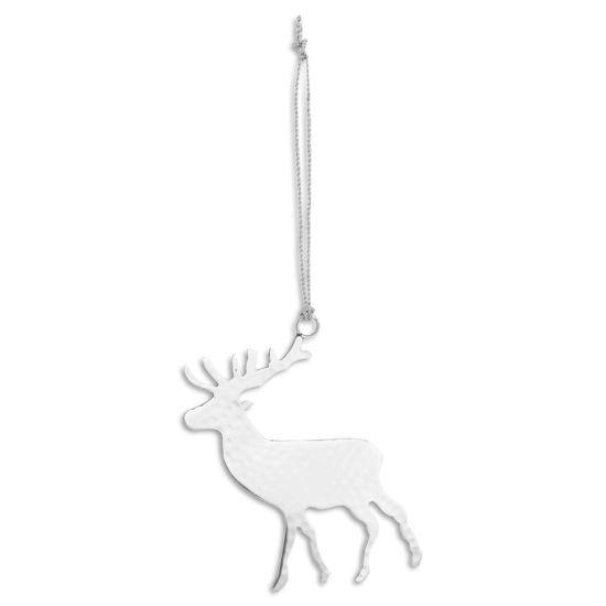 Picture of 4 Pack - Silver Hanging Stag Decoration