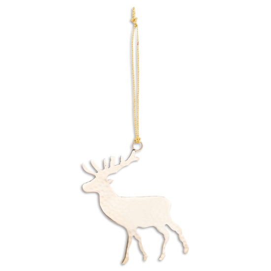 Picture of 4 Pack - Brass Hanging Stag Decoration