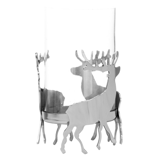 Picture of Silver Stag Hurricane Lantern