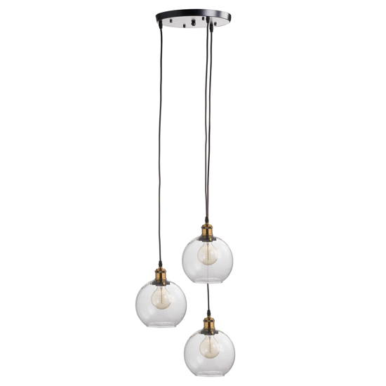 Picture of Triple Hanging Glass Globe Light