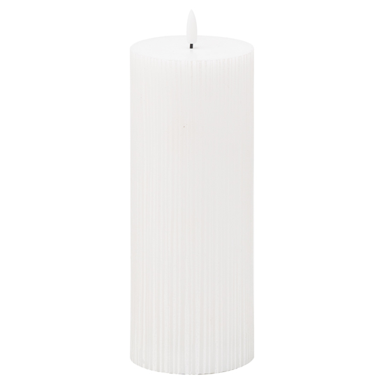 Picture of Luxe Collection Natural Glow 3.5x9 Texture Ribbed LED Candle