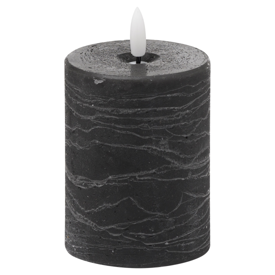 Picture of Luxe Collection Natural Glow 3x4 Grey LED Candle