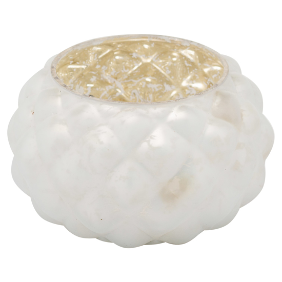 Picture of The Noel Collection Small White Votive Candle Holder
