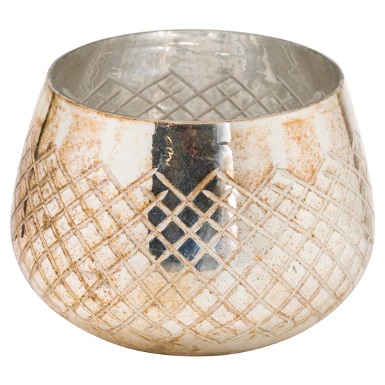 Picture of The Noel Collection Large Burnished  Patterned Candle Holder