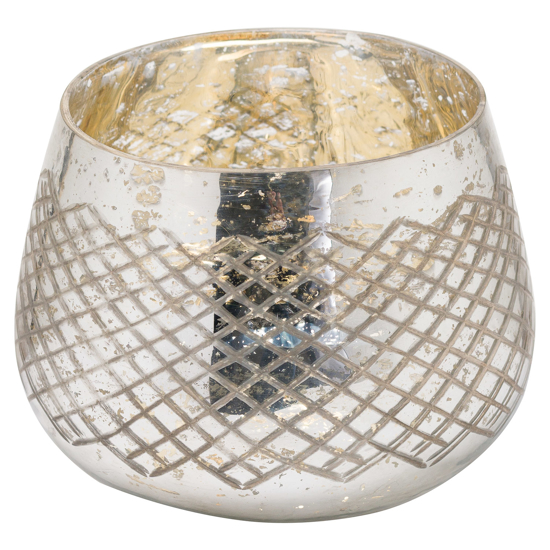 Picture of The Noel Collection Silver Foil Tealight Holder