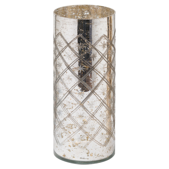 Picture of The Noel Collection Silver Foil Effect Vase