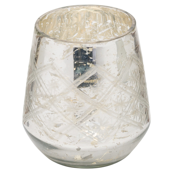Picture of The Noel Collection Silver Foil Effect Tealight Holder