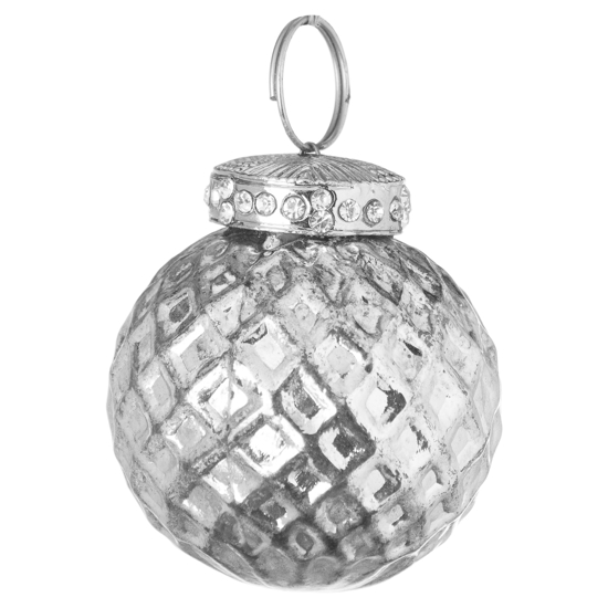 Picture of 4 Pack - Silver Small Honeycombe Bauble