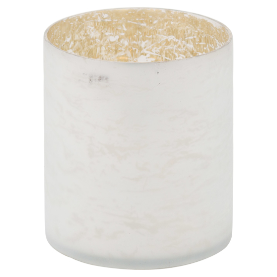 Picture of The Noel Collection White Pillar Candle Holder
