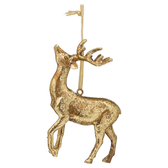 Picture of 4 Pack - Hanging Gold Stag Ornament