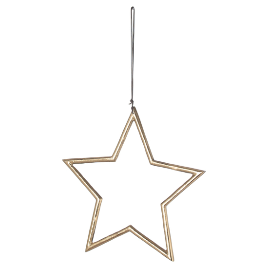 Picture of The Noel Collection Hanging Large Brass Star