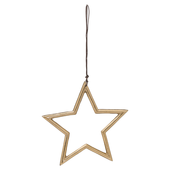 Picture of The Noel Collection Hanging Medium Brass Star