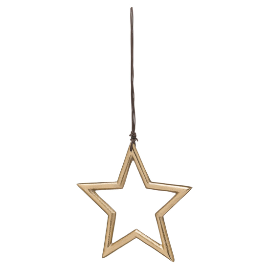 Picture of The Noel Collection Hanging Small Brass Star