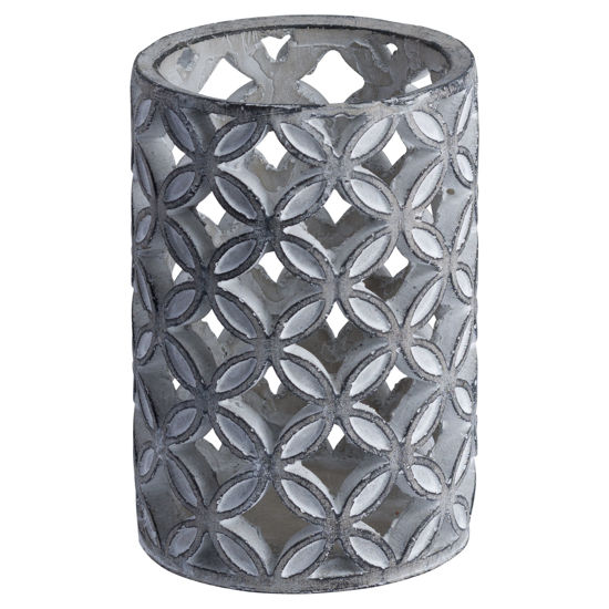 Picture of Large Geometric Stone Candle Sconce