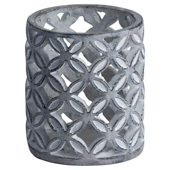 Picture of Geometric Stone Candle Sconce