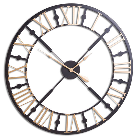 Picture of Black And Gold Skeleton Clock