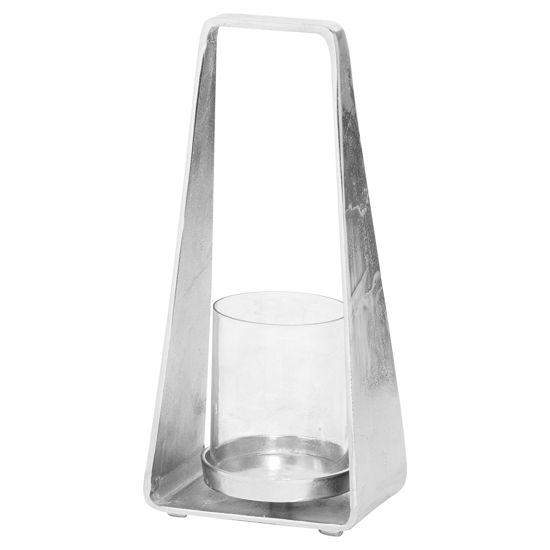 Picture of Cast Silver Pyramid Lantern
