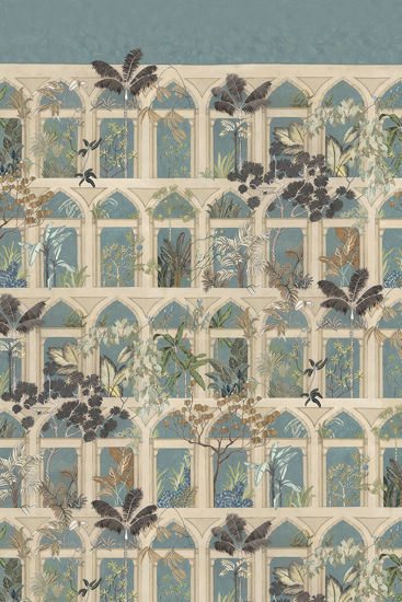 Picture of WALLPAPER SAMPLE - Abandoned Arches A3 - Celadon & Arches